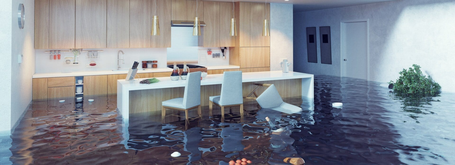 Flooded Kitchen - Sunshine Coast Plumbing and Gas Experts
